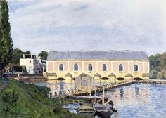 View of the Canal Saint Martin, 1870 by Alfred Sisley. Musée d& Paris, France Impressionist Landscape, Post Impressionism, Landscape Paintings, Oil Paintings, Renoir, Charles Gleyre, Camille Pissarro, Edouard Manet, Edgar Degas