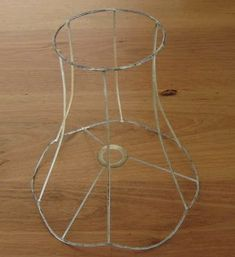 Diy wire lampshade craft ideas pinterest wire lampshade how to re cover a lampshade frame with an unusual shape including the lining greentooth Images