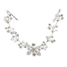 Women Alloy Flowers With Rhinestone Wedding/Party Headpiece – USD $ 23.99