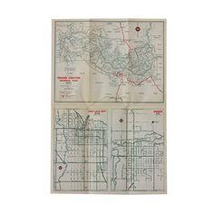 1940's Utah Travel Map