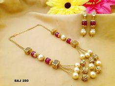#Beautiful #pearls and #beads #neckset #jewelry #collections To place order watsap us on 8179399644 V