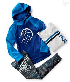 Leggings, hoodies and tees with Justice-exclusive basketball graphics. Now that's what we call a winning look!