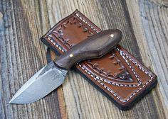 240 Layer Damascus PFB with Leather Sheath