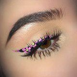 Along with a new season brings new makeup and nail trends that fill our Instagram feeds, and this trend is particularly pretty. Floral eyeliner is as intricate and fancy as it sounds.   #POPSUGAR
