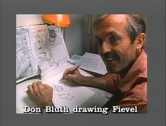 Don Bluth drawing Fievel