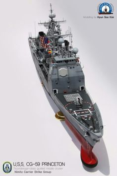 CG-59 PRINCETON, built by master modeler Kim hyun-soo, south korea