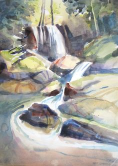 """Forest Falls. 21"""" x 14"""""""