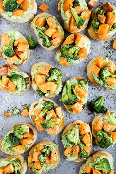 Roasted Sweet Potato and Broccoli Crostini with Avocado and Za'atar | www.floatingkitchen.net