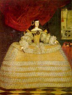 1665-1670 Doña Francisca de Velasco, Marquesa de Santa Cruz by Juan Carreño Miranda (Coll. Marqueses de Isasi - Madrid Spain)