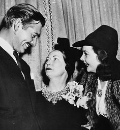 Clark Gable and Vivien Leigh with Gone with the Wind author Margaret Mitchell in 1939