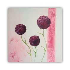 Bloemen, acryl op canvas 50x50cm door Erica Willemsen