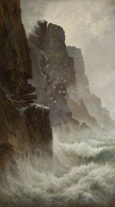 'After the Storm, North Cornwall' by Arthur Suker. Date painted: late 19th C.