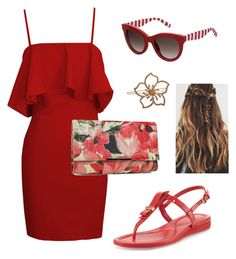 """""""Sunday"""" by paolas91 on Polyvore featuring Jessica McClintock, L. Erickson, Cole Haan and Tommy Hilfiger"""