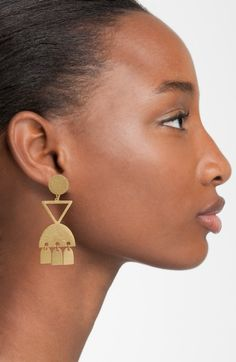 Madewell Geo Statement Drop Earrings $34