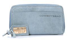 wardow.com - #Cowboysbag, Hapton Geldbörse Damen Leder blau 20 cm, #blue