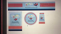 Etiquetas para regalos del nacimiento de bebé. Regalos para el hospital  Agua, desinfectante, galleta y cartas