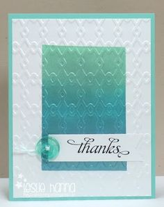 faux textured-metal thanks card by Leslie Hanna