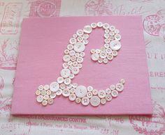 Nursery Wall Art Button Letter L by letterperfectdesigns on Etsy