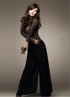 Comfort Wide Leg Loose Pant Black for Women on BuyTrends.com, only price $9.83