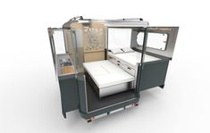 Tiny camper pod expands to 3 times its size