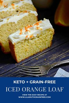 This Moist + Delicious Low-Carb Iced Orange Bread is so scrumptious, it's a slice of heaven each morning! #grainfree #keto #lowcarb #orange #loaf #bread #breakfast #easyrecipe Free Breakfast, Breakfast Recipes, Blueberry Bread, Dairy Free Options, Cream Cheese Glaze, Gluten Free Recipes, Grain Free, Easy Meals, Almond Flour