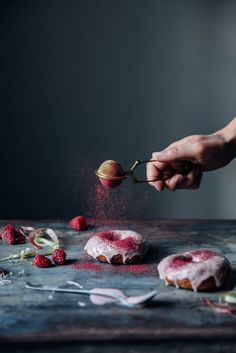 Our Food Stories // gluten-free rhubarb donuts