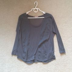 Grey light long sleeve top Kind of see through, never wore, too small for me Forever 21 Tops Tees - Long Sleeve