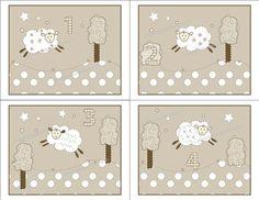 Sweet Lambie Sheep Counting 1 2 3 4 Art Prints by DandielionsDream, $21.99