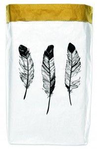 Worek papierowy Feathers 50x70 cm