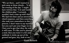 Keith Richards Quote About Songwriting and Music