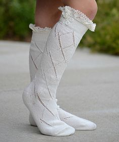 Girl's button-top socks