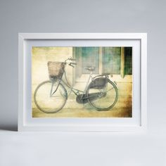 London Photography -Ride Away - Fine Art Photography Print bicycle in London, England