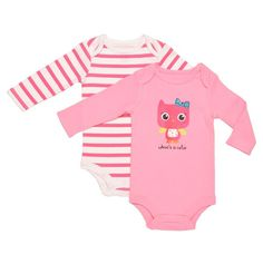 This is one of my favorites on totsy.com: Whoo's Cute 2-pc Bodysuit Set