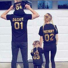 Papa et Bébé assorti T-shirt noir et Body Set-MASTER et apprenti