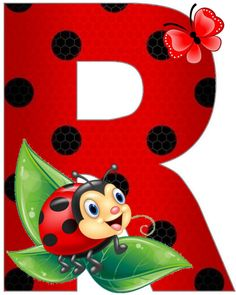 Ladybug Art, Ladybug Crafts, Lady Bug, School Frame, Clip Art Pictures, Graffiti Alphabet, Painted Letters, Painting For Kids, Letters And Numbers