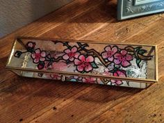 Faux Stained Glass Cherry Blossom Trinket Box by JilavoneArts, $40.00