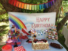 "Wizard of Oz - Rainbow / Birthday ""Somewhere Over the Rainbow"" | Catch My Party"
