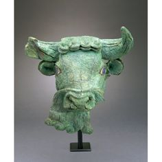 Bearded Bull's Head  Sumerian  2600-2450 BC