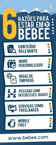 Você precisa de mais motivos para estar no beBee? #Infográficos #beBee #RedesSociais #SocialMedia