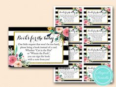 TLC402-books-for-the-baby-cat-in-the-hat-FLORAL-GOLD-BABY-SHOWER-GAME
