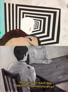 Bruno Kurru   Fazendo o contrario  2012  acrílica e resina sobre tela  110 x 80 cm