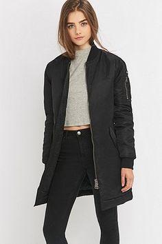 Schott NYC Stan Long Black Bomber Jacket