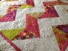 The 'Kiara Chevron' quilt.  Made with Quilters Dream Batting blend and wool...  DoodleMoochie.com