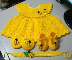 Mary Helen artesanatos croche e trico: Vestidos Bebê Crochê e Trico