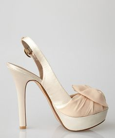 Take a look at this Nude Chiffon Bow Sunrise Slingback on zulily today!