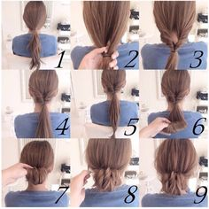 tutorial hairdo, belajar sanggul rambut, Important Style New Bun Hairstyle Step By Step - Hair trends come and go each season, but there is a set of cuts Bun Hairstyles, Pretty Hairstyles, Wedding Hairstyles, Step Hairstyle, Braided Hairstyle, Simple Hairstyles, School Hairstyles, Love Hair, Gorgeous Hair