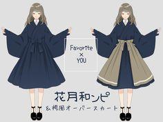 Manga Clothes, Drawing Anime Clothes, Kawaii Clothes, Anime Outfits, Mode Outfits, Dress Design Sketches, Fashion Design Sketches, Anime Girl Dress, Mode Kawaii