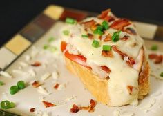 Nibble Me This: Leftover Turkey Hot Brown Crostini