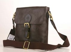 replica Mulberry Albert Chocolate Heavy Pebbled Leather Messenger HH7942
