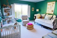 If you have the space, a sofa in a nursery is a lovely luxury - great for reading stories on with kids or for parents to grab a nap.